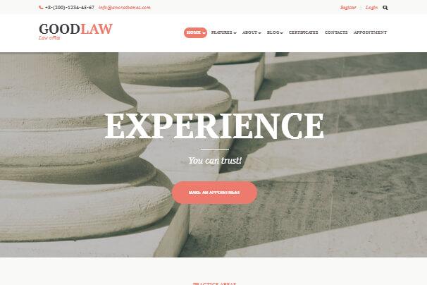 معرفی 10 مورد از بهترین قالب های وردپرس برای وکلا 2