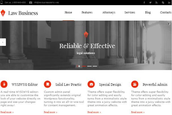 معرفی 10 مورد از بهترین قالب های وردپرس برای وکلا