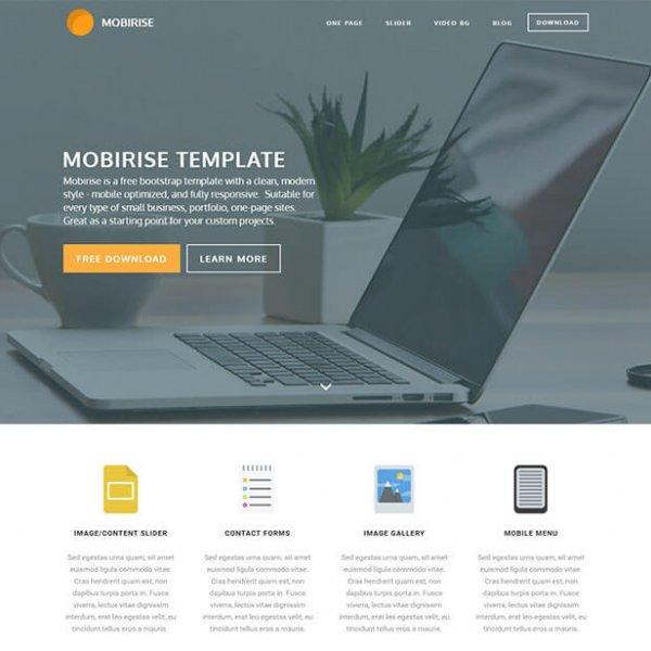 mobirise free bootstrap template قالب رایگان html ریسپانسیو Mobirise