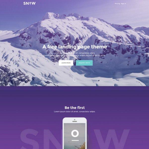 snow free landing html template قالب html رایگان