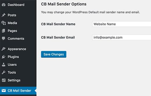 نحوه تغییر نام و آدرس فرستنده ایمیل در وردپرس