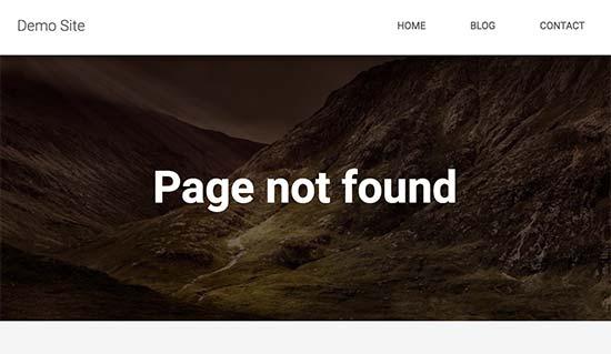 search404error غیر فعال سازی ویژگی جستجو