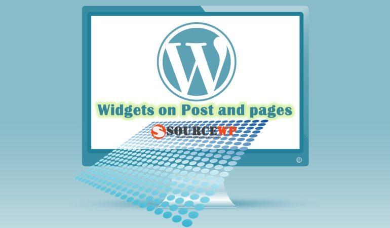 Widgets on pages اضافه کردن ابزارک در پست وردپرس