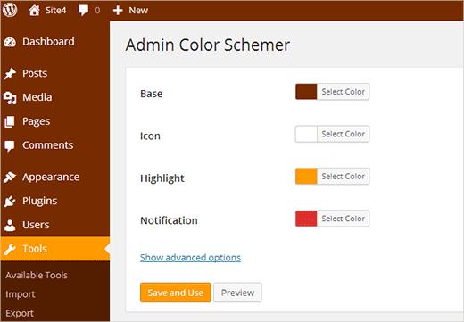 نحوه تغییر رنگ سفارشی پنل مدیریت وردپرس