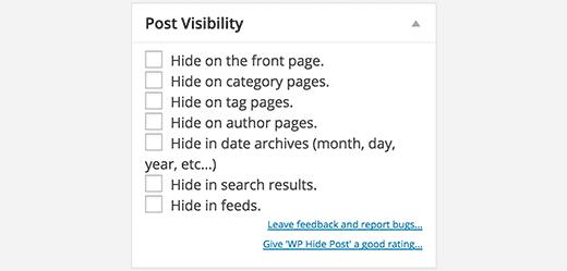 چگونه یک پست را از صفحه اصلی در وردپرس پنهان کنیم ؟