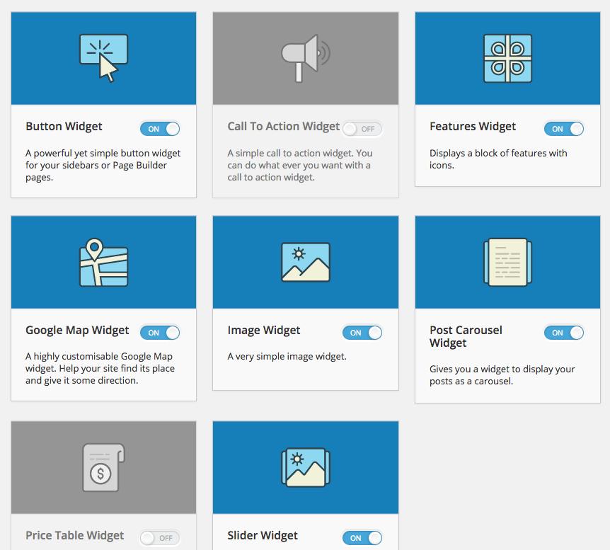 افزونه ویجت های حرفه ای SiteOrigin Widgets Bundle